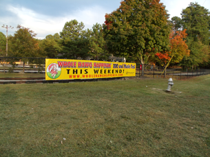 30' Full Color Printed Fence Banner