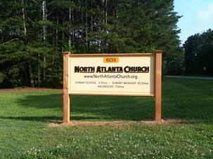 Church Post & Panel Sign