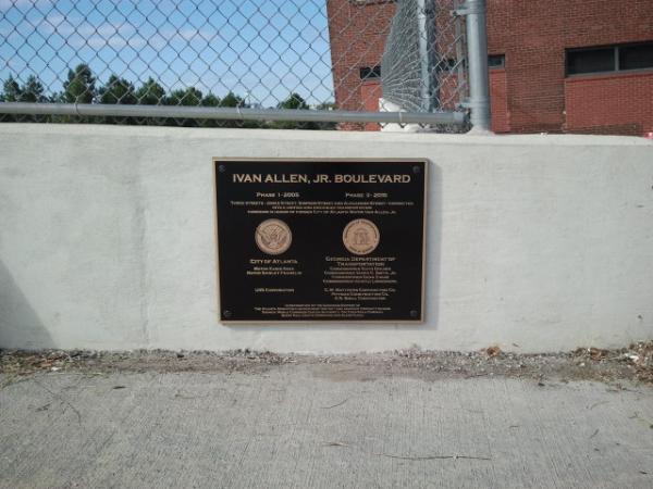 Atlanta Bridge Dedication Plaque Ivan Allen