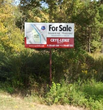 For Sale Acreage Sign