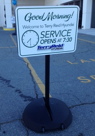 Car Dealer Service Sign