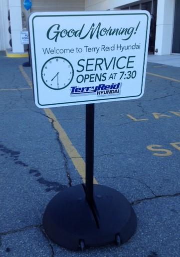 Car Dealer Service Sign