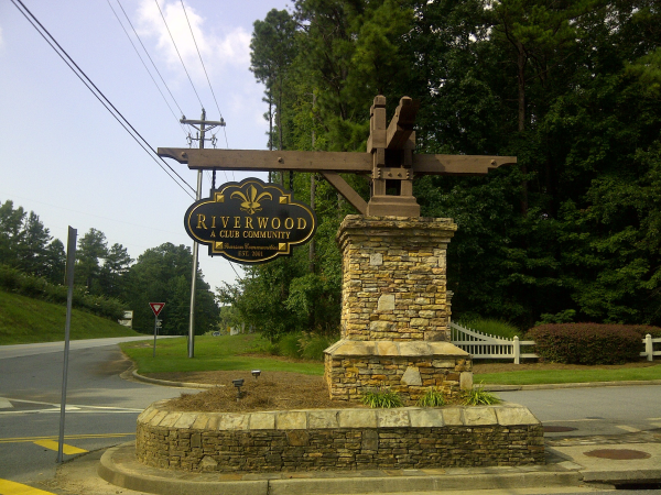 Stone & Cedar Base with Routed Sign
