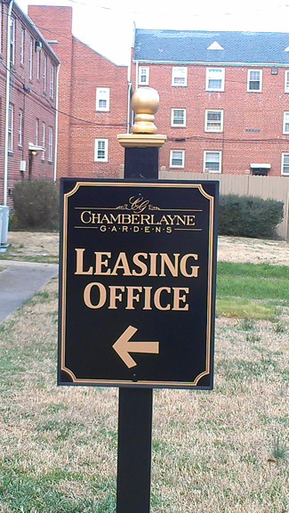 Apartment Complex Directional Sign