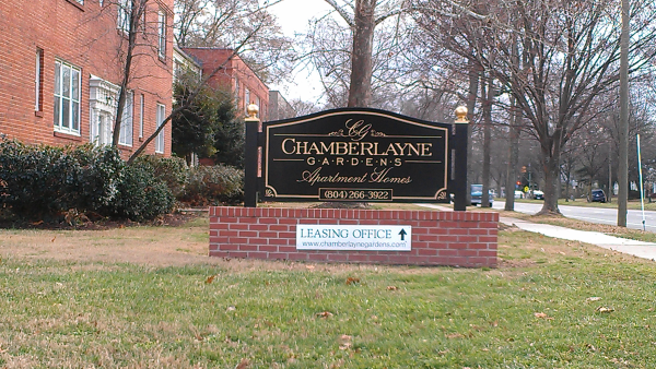Apartment Entrance Sign