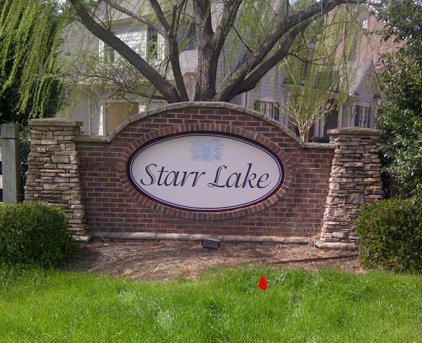 Neighborhood Entrance Sign