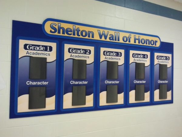 School Wall of Honor Sign