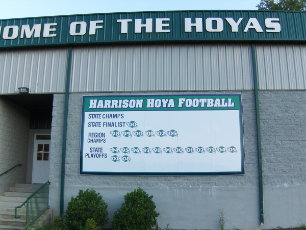 School Football Sign