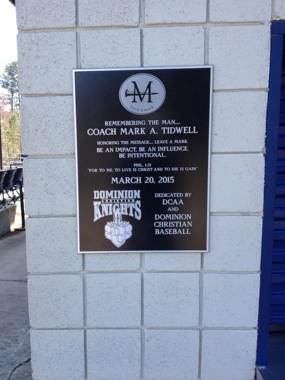 Memorial Metal Plaques Atlanta