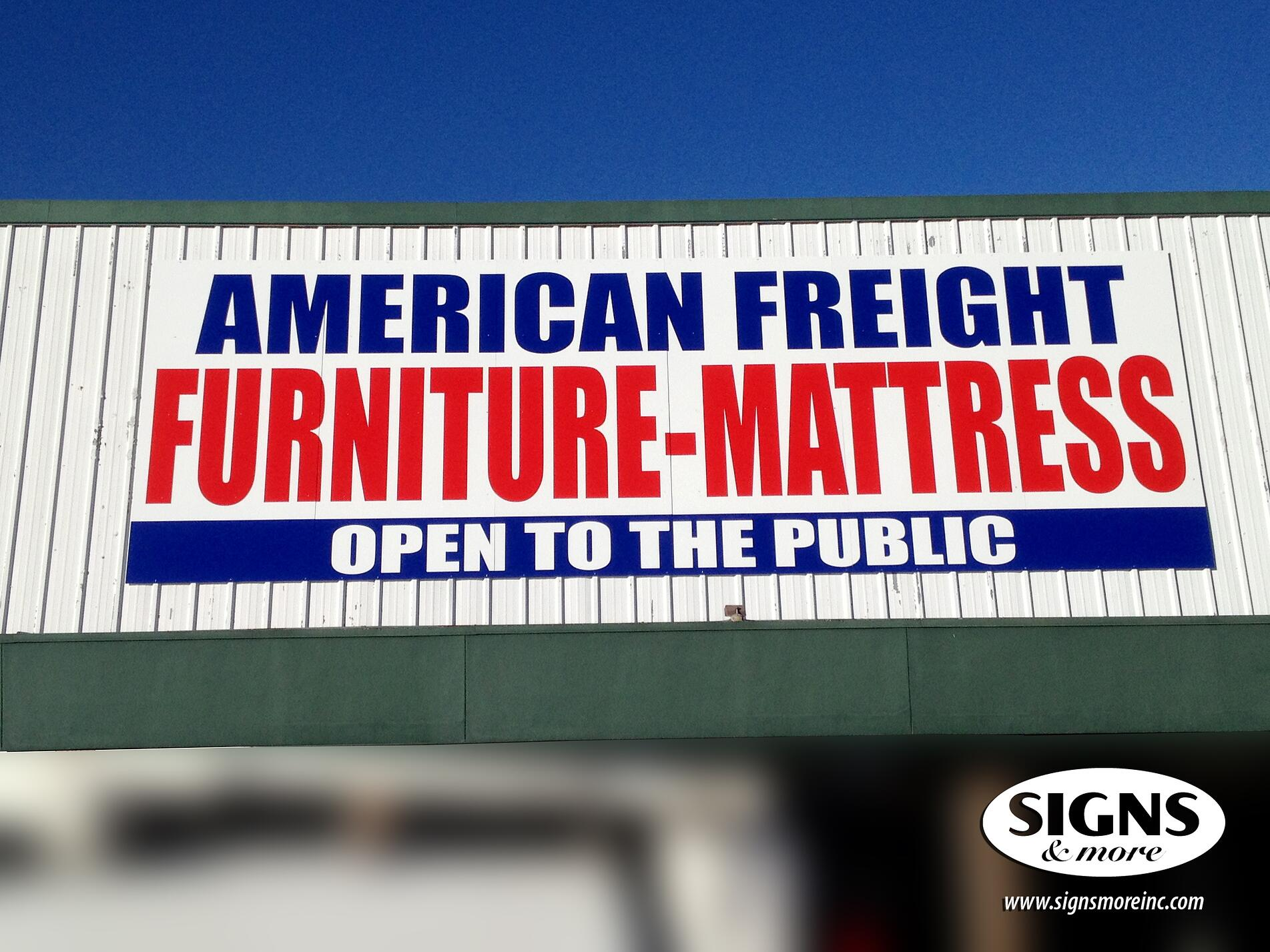 American Freight - Dibond with Cut Vinyl Sign - Building Sign.jpg