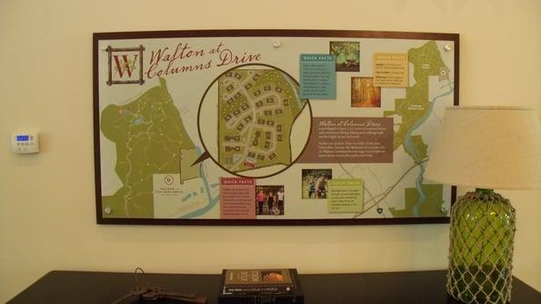 Apartment Community Map Signs Marietta GA