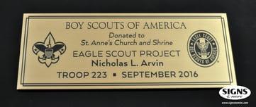 Boy Scout - Eagle Scout - Arvin - 3x8 Etched Bronze Plaque.jpg