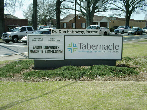 Readerboard monument signs for churches in Atlanta