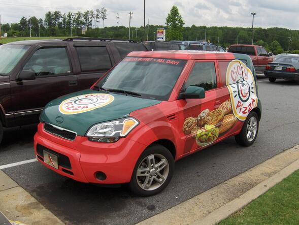 Pizza Delivery Vehicle Wraps for Atlanta