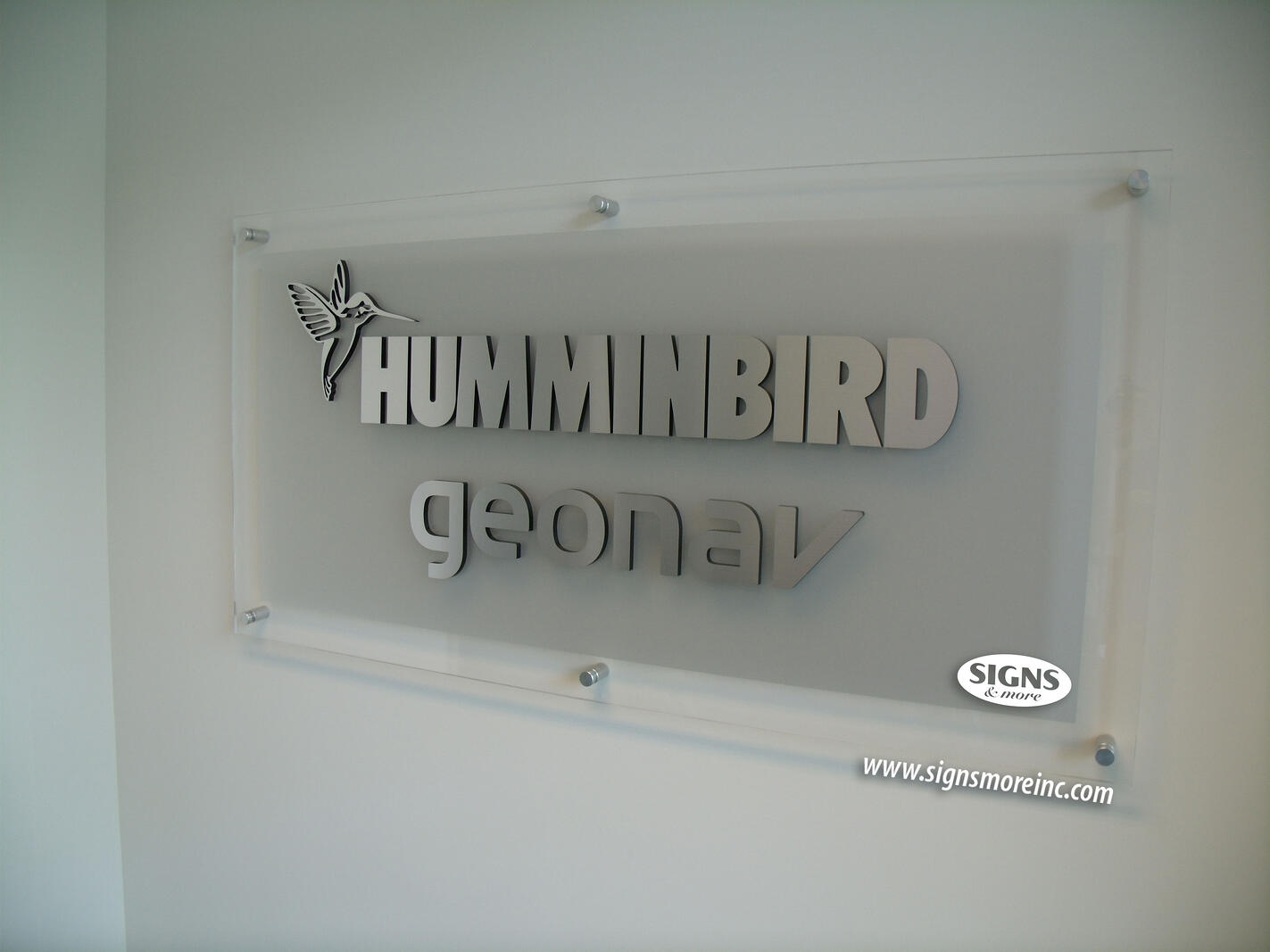 Lobby signs by signs more inc marietta cartersville for Acrylic dimensional letters