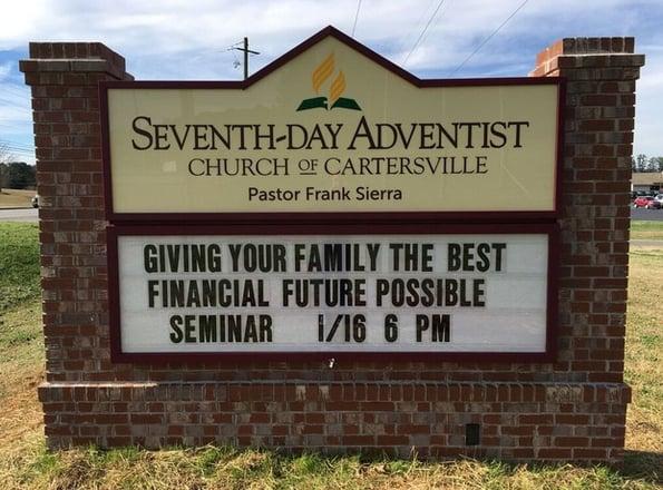 Church Monument Signs Cartersville GA