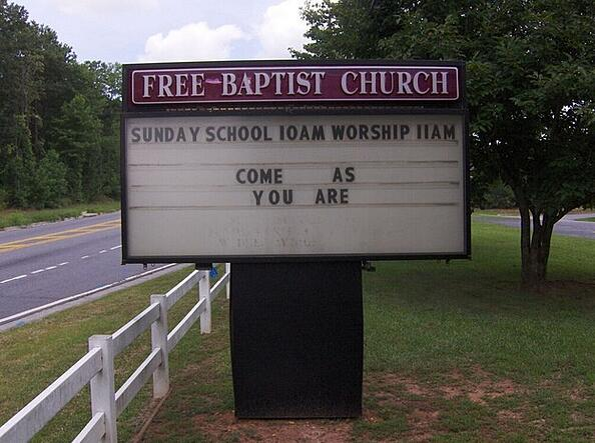 Church Sign Upgrades Cartersville GA