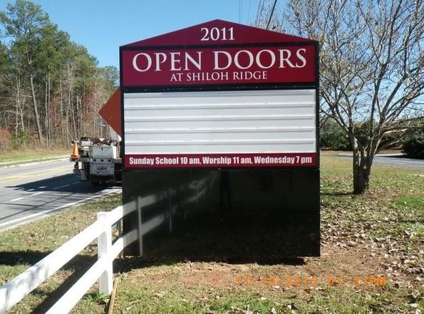New Exterior Church Signs Cartersville GA