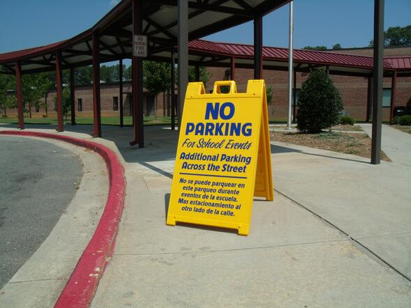 A-Frame Signs for Schools in Atlanta