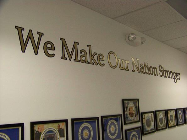 Mission Wall Vinyl Graphics Atlanta