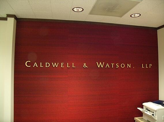 Cast metal letters lobby signs Atlanta