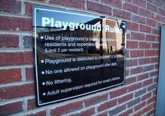 Apartment Amenity Signs: Playground Signs Georgia