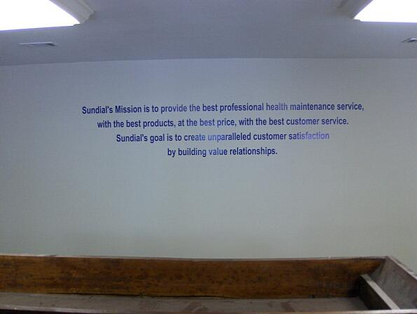 Vision Statement Wall Graphics Marietta   Atlanta   Cartersville GA