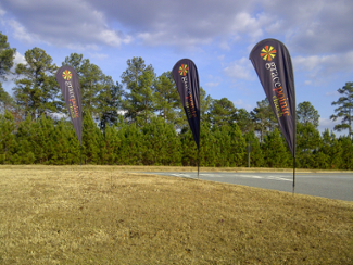 Teardrop flags for corporate events in Atlanta
